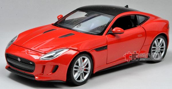 โมเดลรถยนต์ โมเดลรถเหล็ก Jaguar F-Type red 1