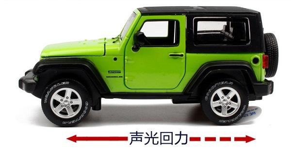 โมเดลรถเหล็ก โมเดลรถยนต์ Jeep Wrangler 2