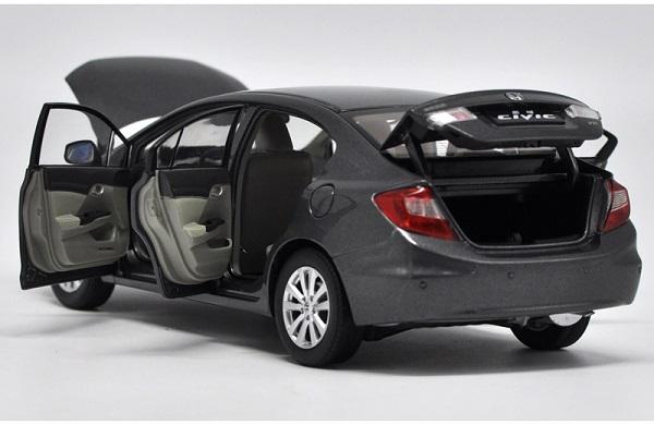 โมเดลรถ โมเดลรถเหล็ก โมเดลรถยนต์ Honda Civic 2009 9 gen dark grey 4
