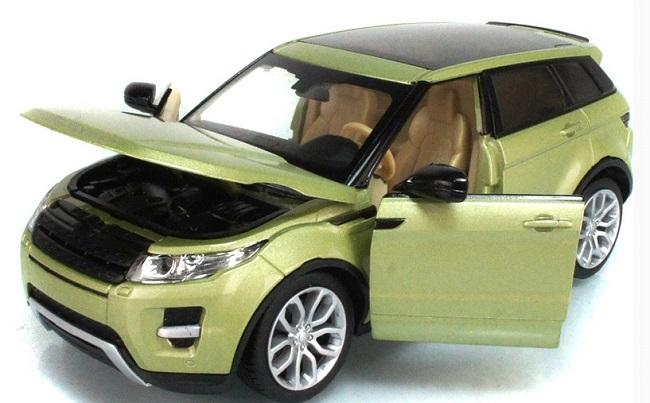 โมเดลรถเหล็ก โมเดลรถยนต์ Land Rover Evoque 4 doors เขียวอ่อน 4