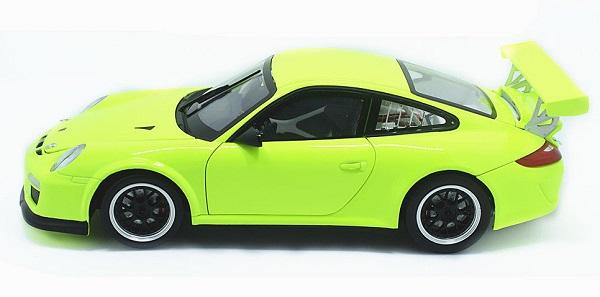 โมเดลรถ โมเดลรถเหล็ก โมเดลรถยนต์ Porsche 911 gt3 green 3