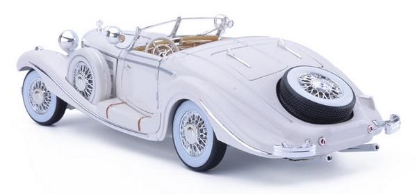 โมเดลรถ โมเดลรถเหล็ก โมเดลรถยนต์ Benz 500K white 2