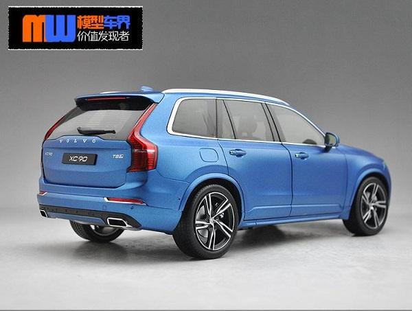 โมเดลรถ โมเดลรถเหล็ก โมเดลรถยนต์ Volvo XC90 blue 2015 2