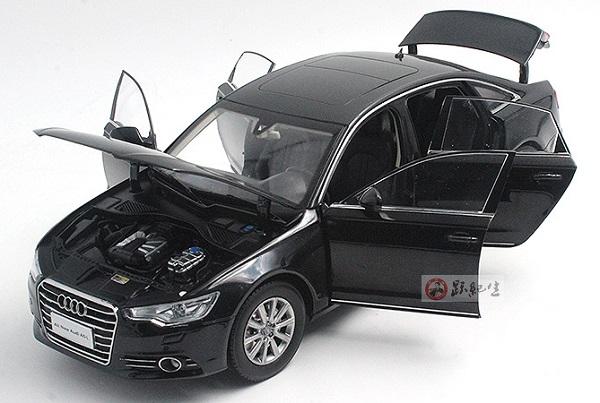 โมเดลรถ โมเดลรถเหล็ก โมเดลรถยนต์ audi A6L black 4