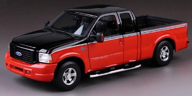 โมเดลรถ โมเดลรถเหล็ก โมเดลรถยนต์ Ford F-350 black 1