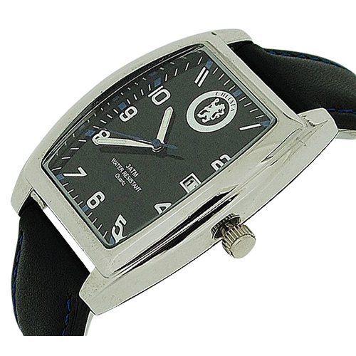นาฬิกาข้อมือเชลซี Chelsea Analogue Black Leather Watch