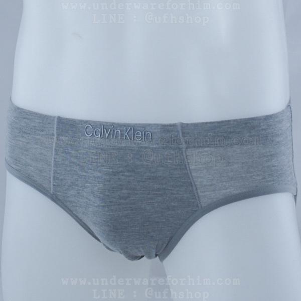 กางเกงในชาย Calvin Klein Briefs : สีเทา [Modal]