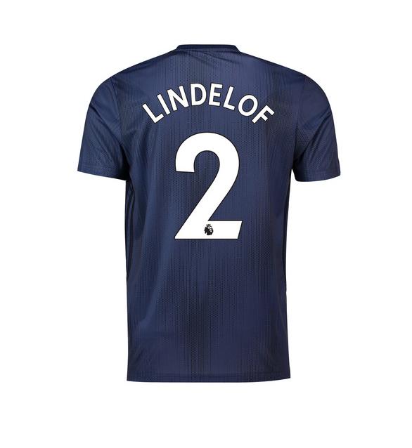 เสื้อแมนเชสเตอร์ ยูไนเต็ด 2018 2019 ชุดที่3 Lindelof 2 ฟอนท์ EPL ของแท้