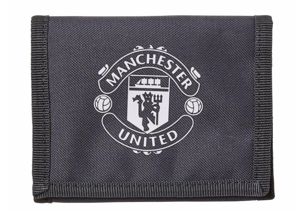 กระเป๋าสตางค์อดิดาสแมนเชสเตอร์ ยูไนเต็ด แบบ 3 พับของแท้ Manchester United Wallet Dark Grey