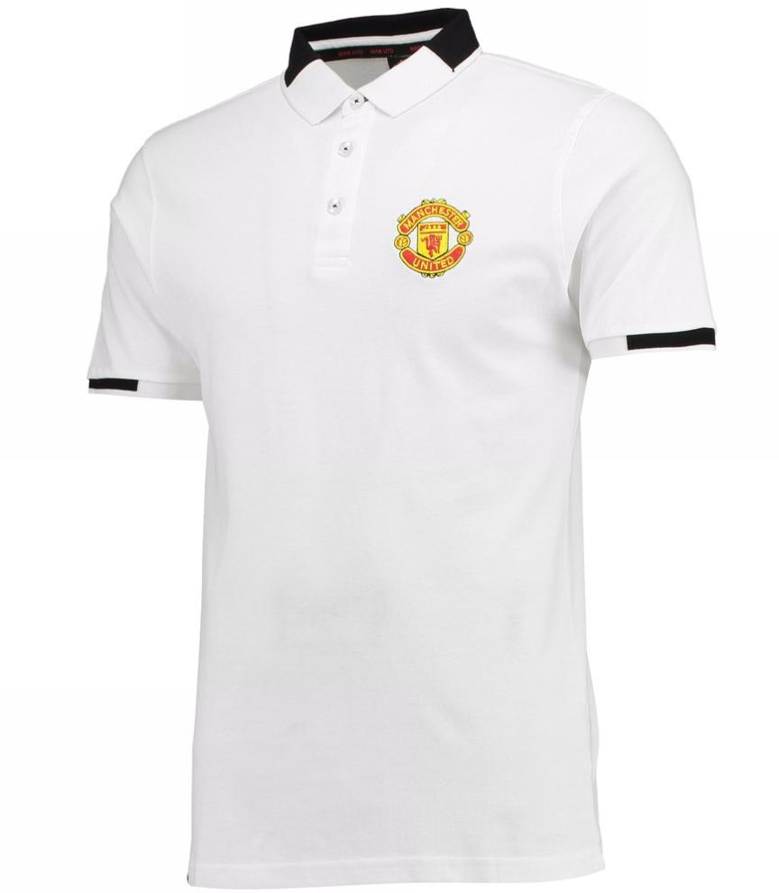 เสื้อโปโลแมนเชสเตอร์ ยูไนเต็ด Manchester United Essential Crest Polo Shirt White ของแท้