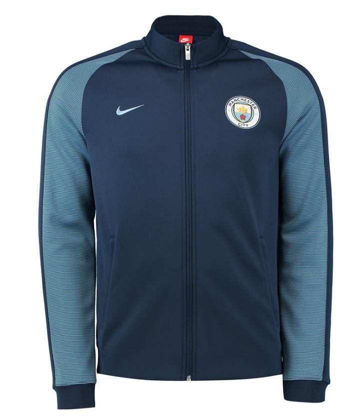 เสื้อแจ็คเก็ตแมนซิตี้ออเธนธิคN98 สีกรมท่าของแท้