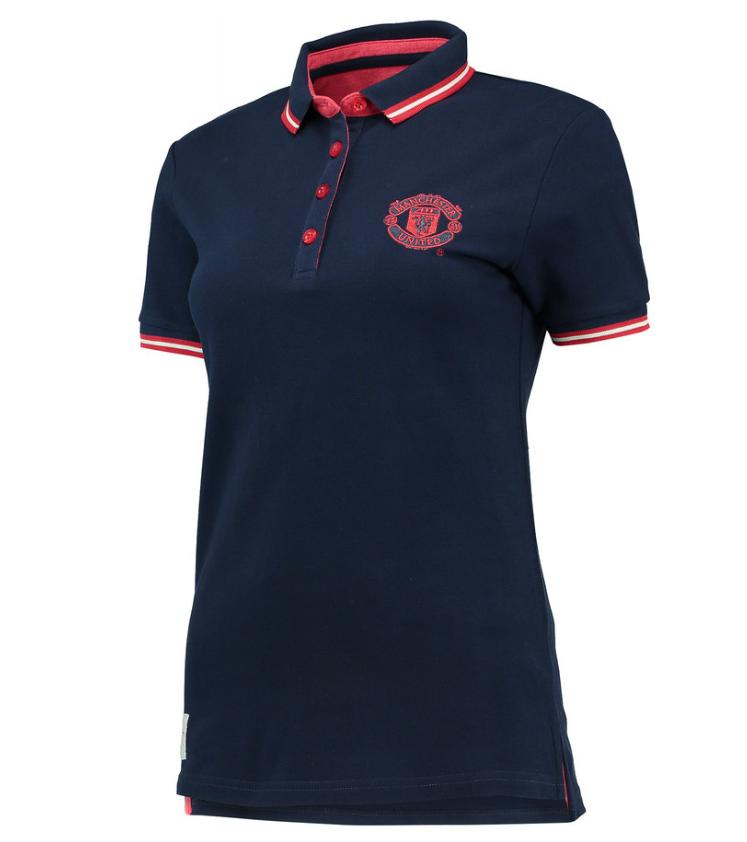 เสื้อโปโลแมนเชสเตอร์ ยูไนเต็ดผู้หญิงของแท้ Manchester United Essential Tipped Polo Shirt - Navy - Womens