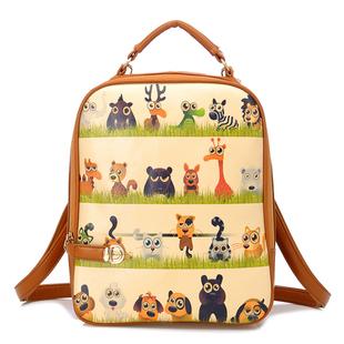 """""""พร้อมส่ง""""กระเป๋าแฟชั่น Beibaobao กระเป๋าเป้ ถอดสายได้ ทรงสวย สายซิปเอามาล็อกด้านหน้าได้ เก๋ค่ะ ด้านหน้ามีลายน่ารักๆ -ลายการ์ตูน"""