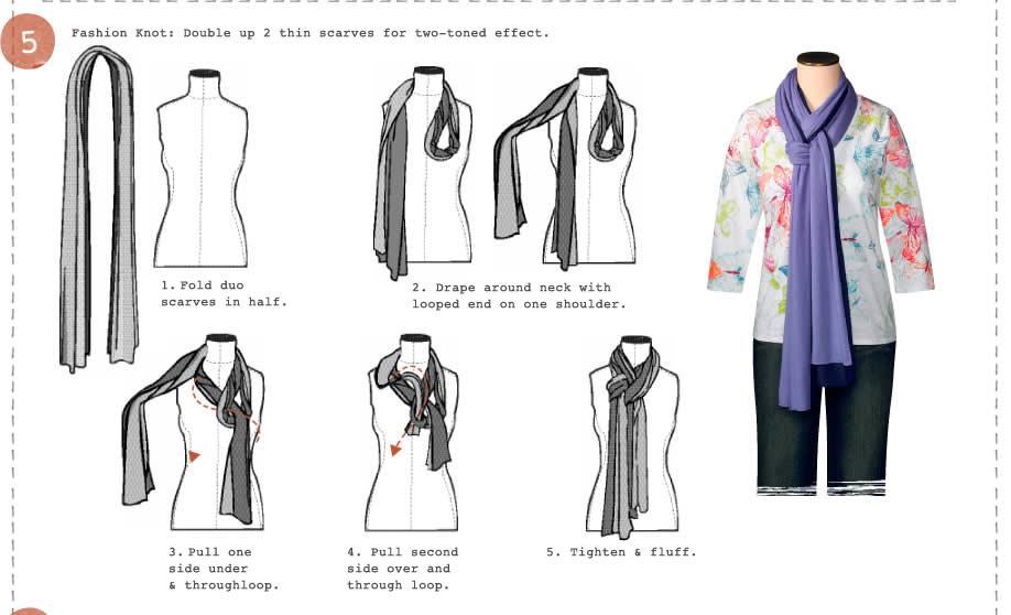 วิธีผูกผ้าพันคอ5
