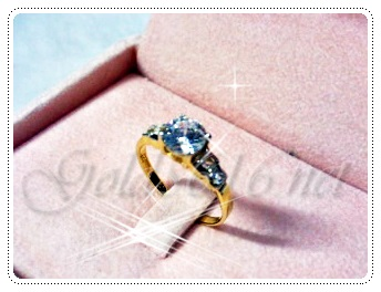 แหวนเพชร gold plated 5microns/white gold plated