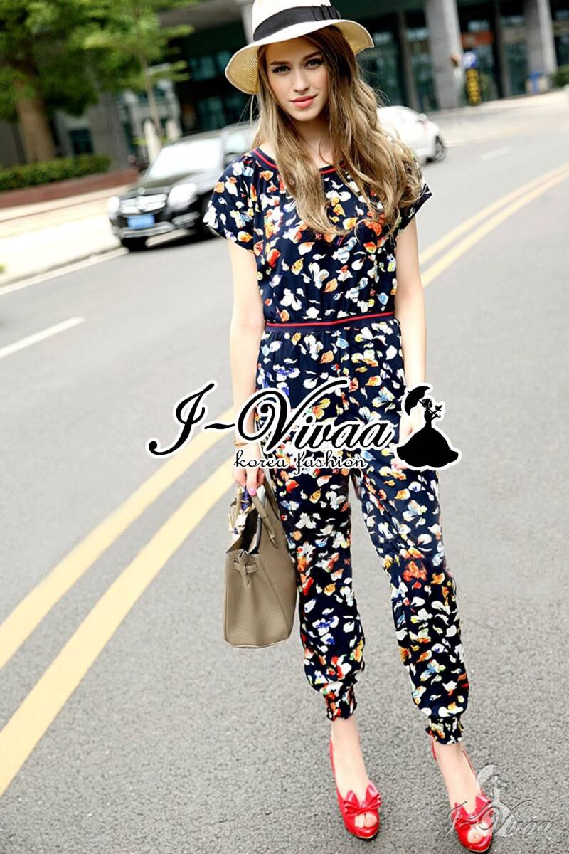 Tropical color jumpsuit