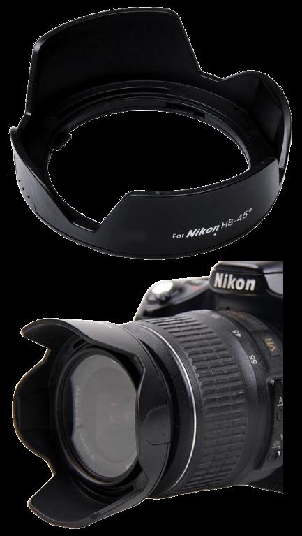 Nikon Lens Hood เทียบเท่า HB-45 ทรงกลีบดอกไม้ for NIKKOR 18-55mm f/3.5-5.6G