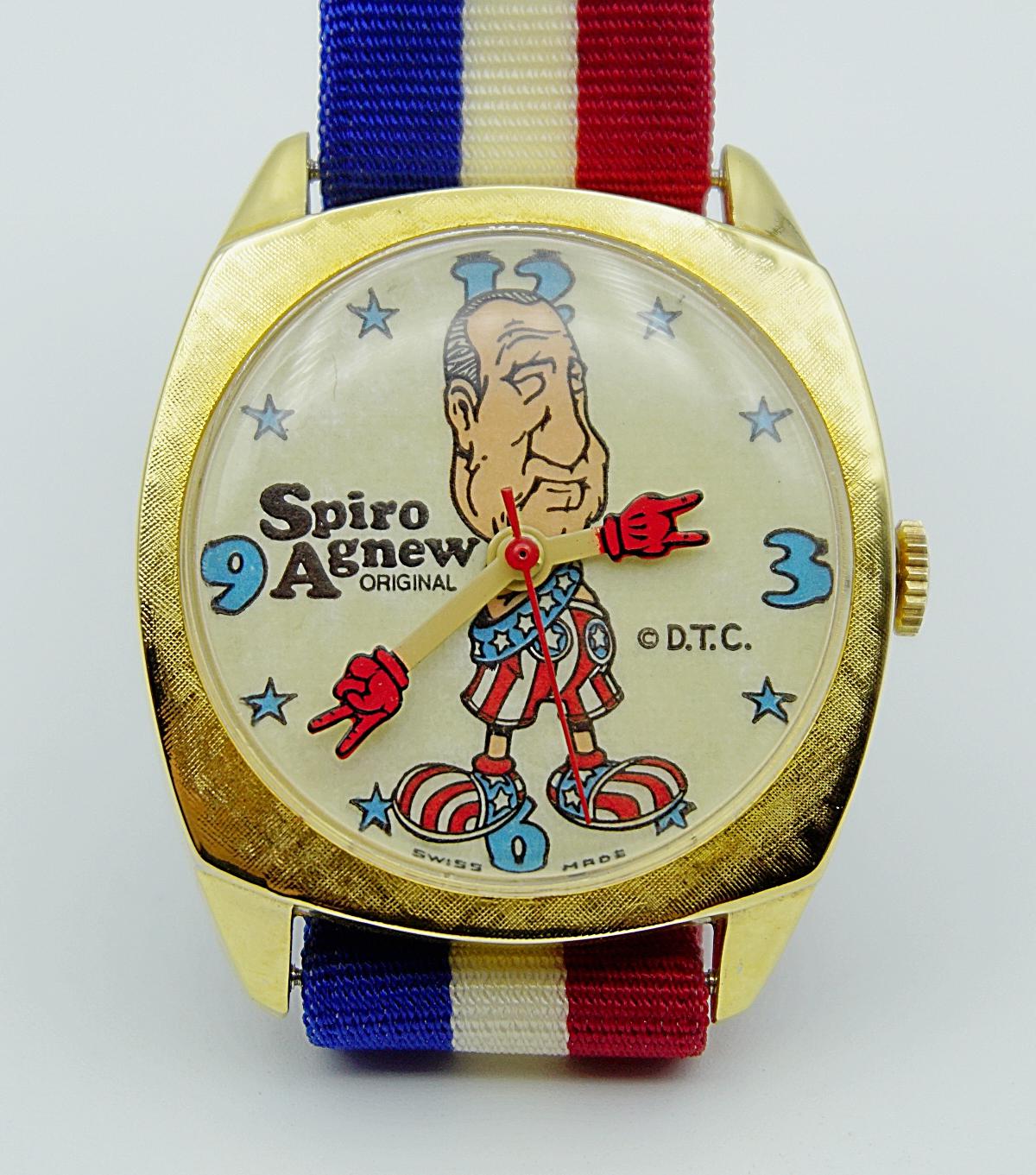 นาฬิกาเก่า SPIRO AGNEW ไขลาน
