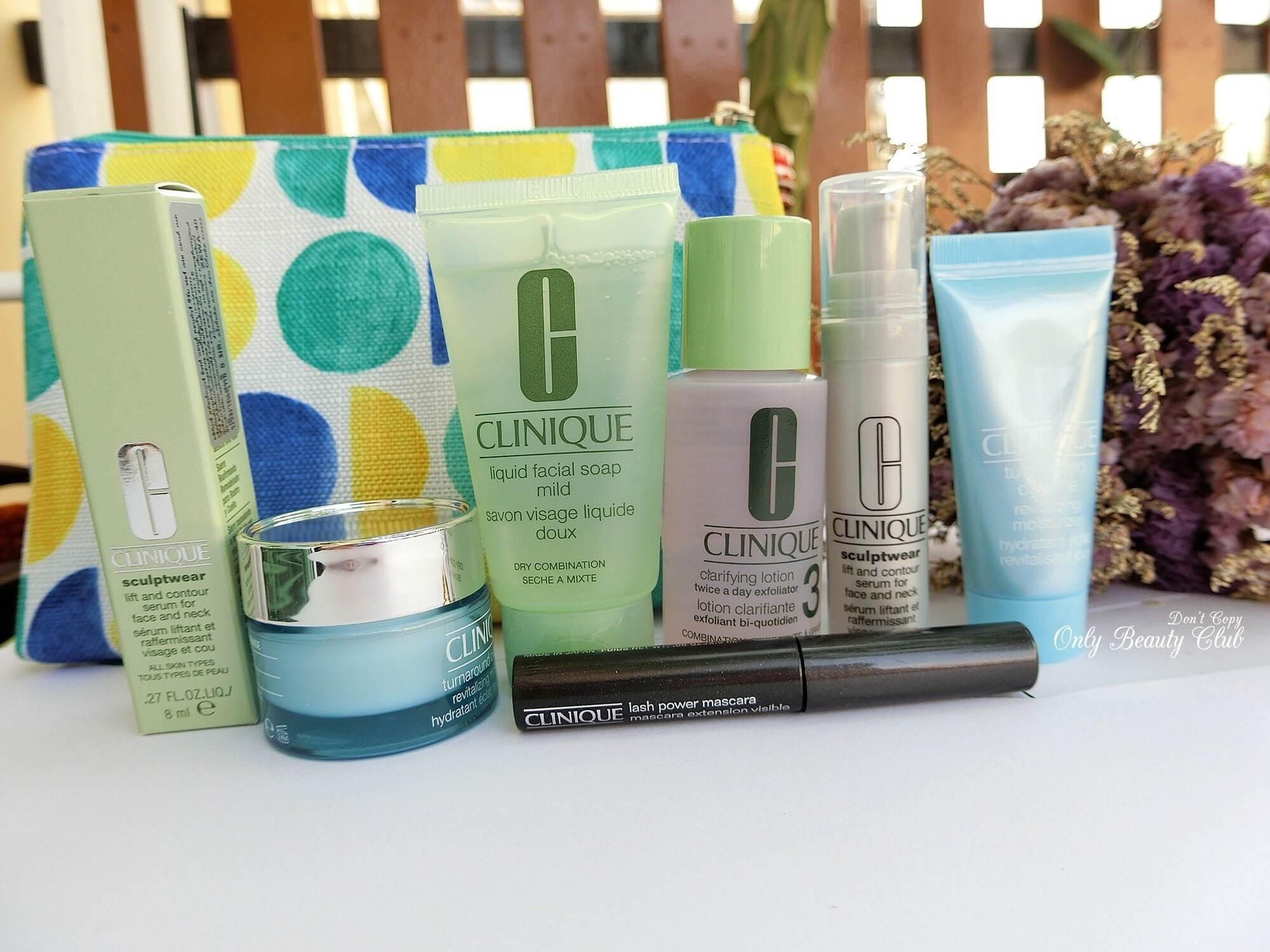 พร้อมส่ง Clinique Gift Set 6 ชิ้น + กระเป๋า