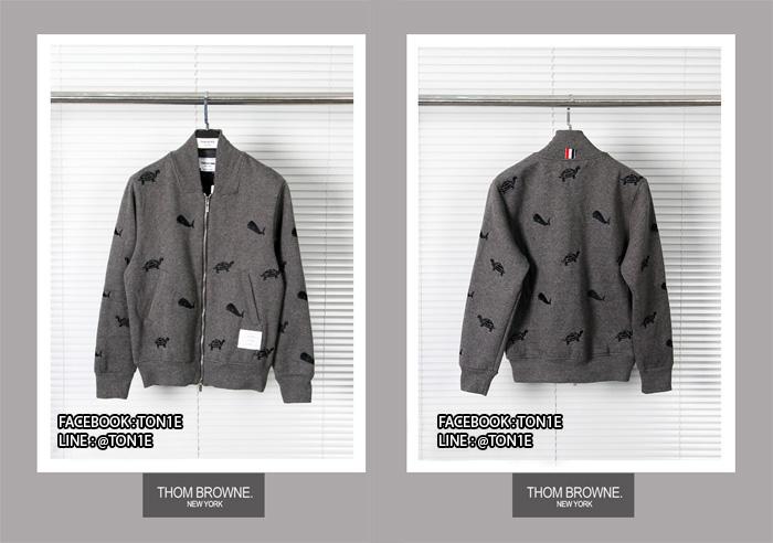 เสื้อแจ็ตเก็ตThom Browne Turtle Whale Bomber Jacket มี2สี