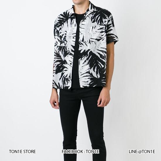 เสื้อเชิ้ต Saint Laurent - Leaf Print SS16 (1:1)