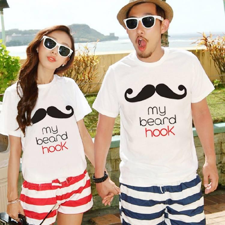 เสื้อคู่รักสไตล์เกาหลี เสื้อยืด