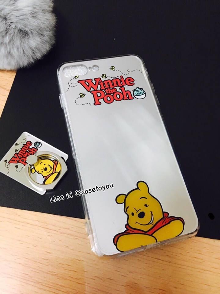 เคสกระจกเงา Pooh iPhone 5/5S/SE