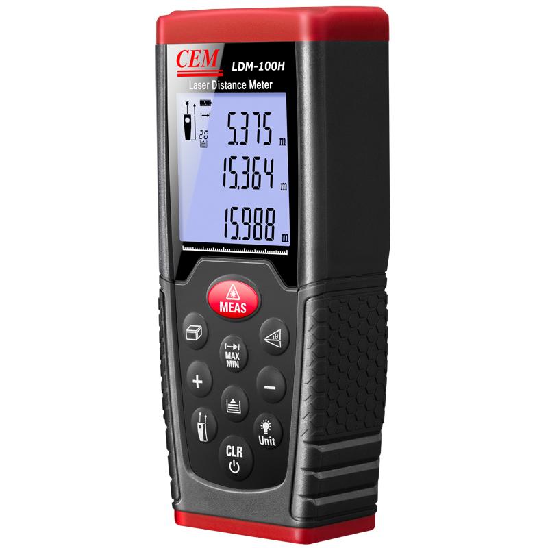 เครื่องวัดระยะแบบเลเซอร์(Laser Distance meter) ยี่ห้อ CEM LDM-100H