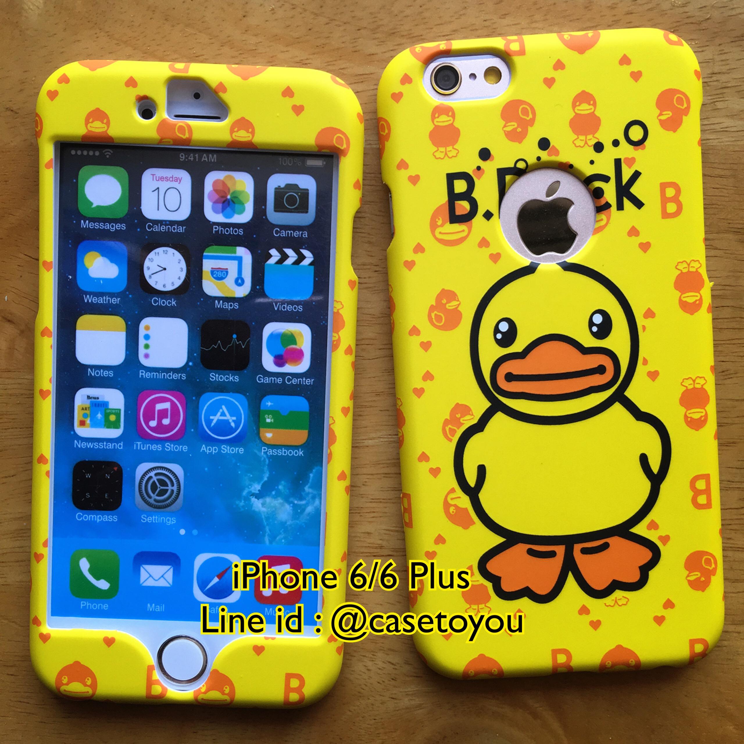 เคสประกบหน้า-หลัง B-Duck iPhone 6/6S