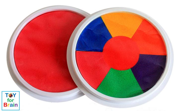 ที่แสตมป์สี 20 cm ล้างออกง่าย Washable Paint Pad