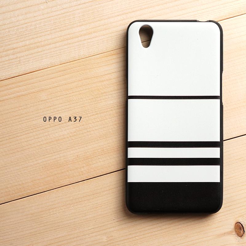 เคส Oppo A37 เคสนิ่ม TPU พิมพ์ลายนูน 3D สามมิติ (Minimal Series) Black & White