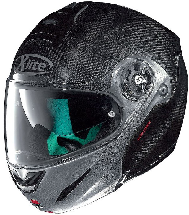หมวกกันน๊อค X-LITE X-1004 DYAD CARBON 003 SCRATCHED CHROME CHIN GUARD
