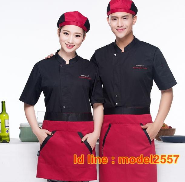 C6012010 เสื้อเชฟ เสื้อพ่อครัว เสื้อแม่ครัว เสื้อพนักงานทำอาหาร เสื้อกุ๊ก M-4XL