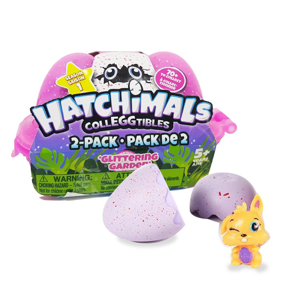 SR011 (งานเทียบ) hatchimals collectibles ไข่เซอร์ไพร์ส ฟิกเกอร์ แพ๊ค 2 ฟอง-เปลี่ยนสี