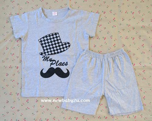 [ไซส์ 6-7 ปี] มีตำหนิเล็กน้อย เสื้อยืดเด็กสกรีนลาย กางเกงขาสั้น ผ้า Cotton100% ผ้านิ่ม