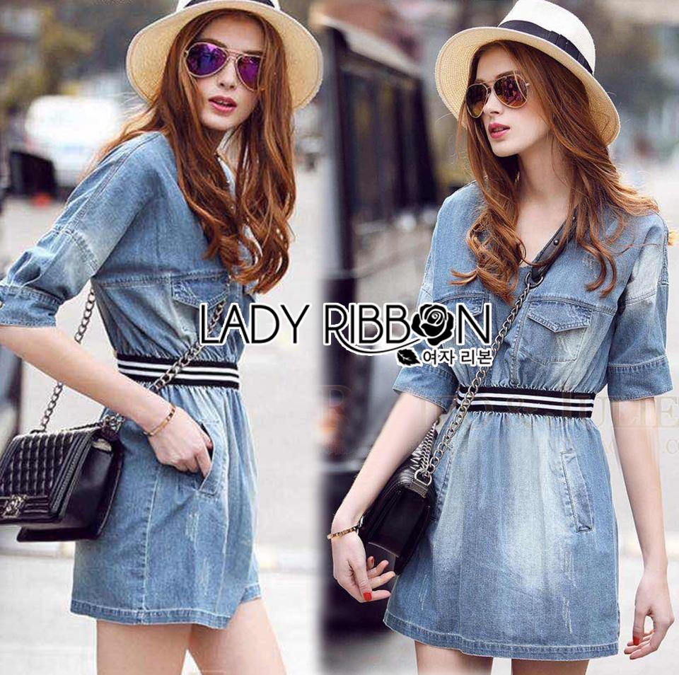 Lady Jennifer Sporty Chic Denim Mini Dress L255-79C15