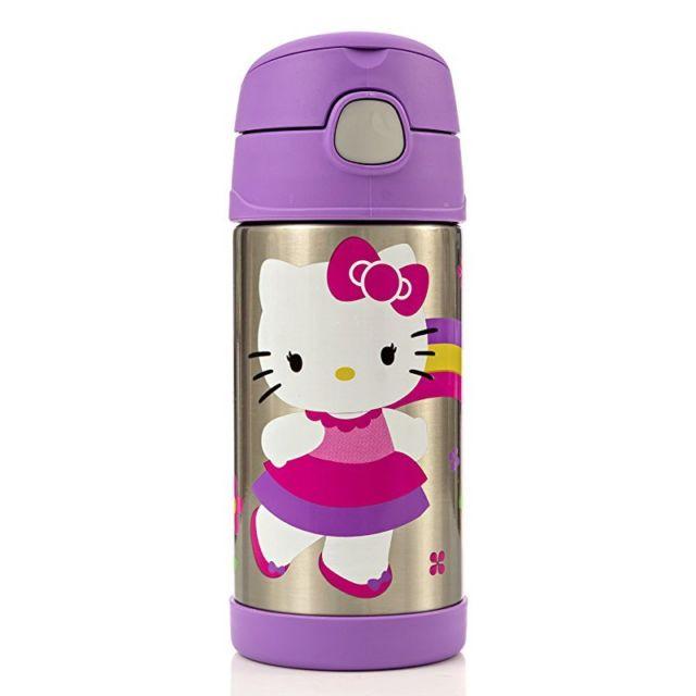Thermos Funtainer Bottle Hello Kitty Purple