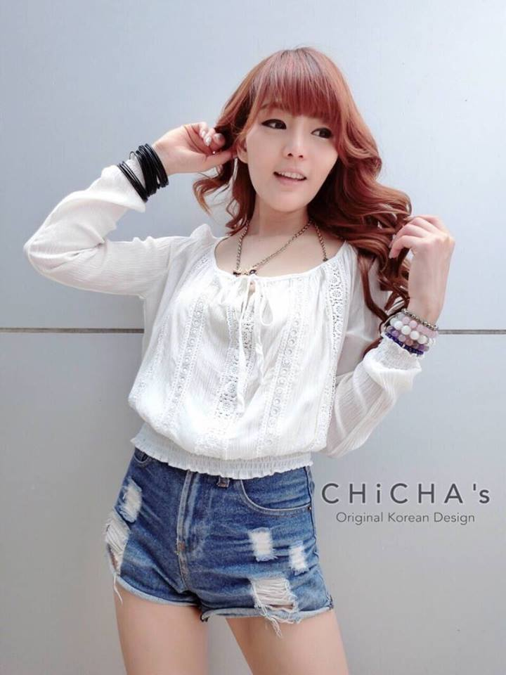 Baby Chillin' Blouse C159-47A12 สีขาว