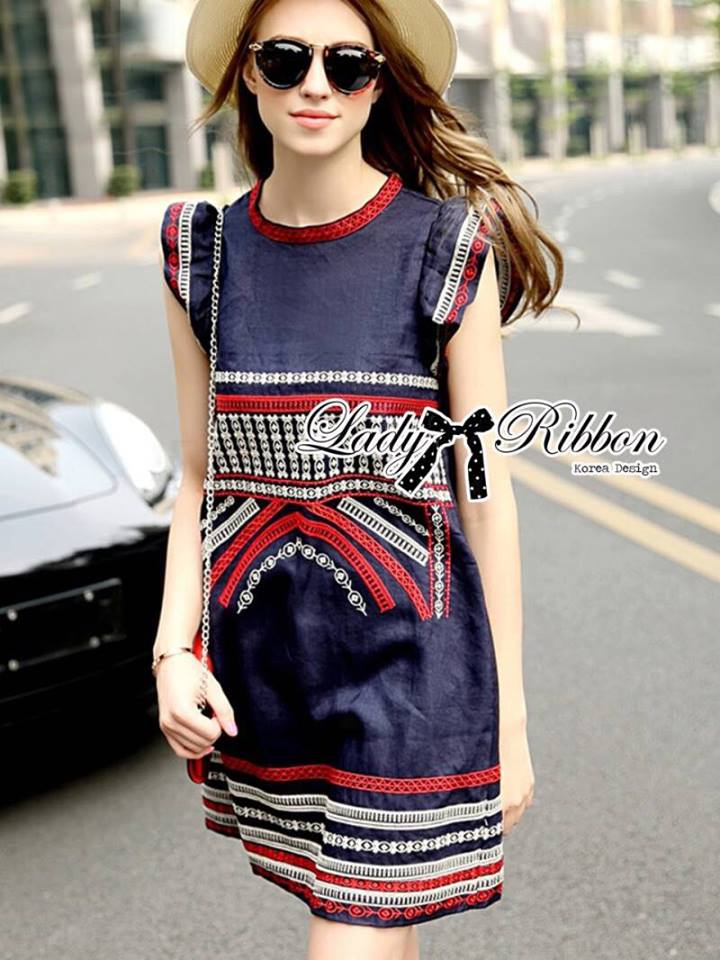Lady Kim Tribal Embroidered Cotton Dress L199-79C03