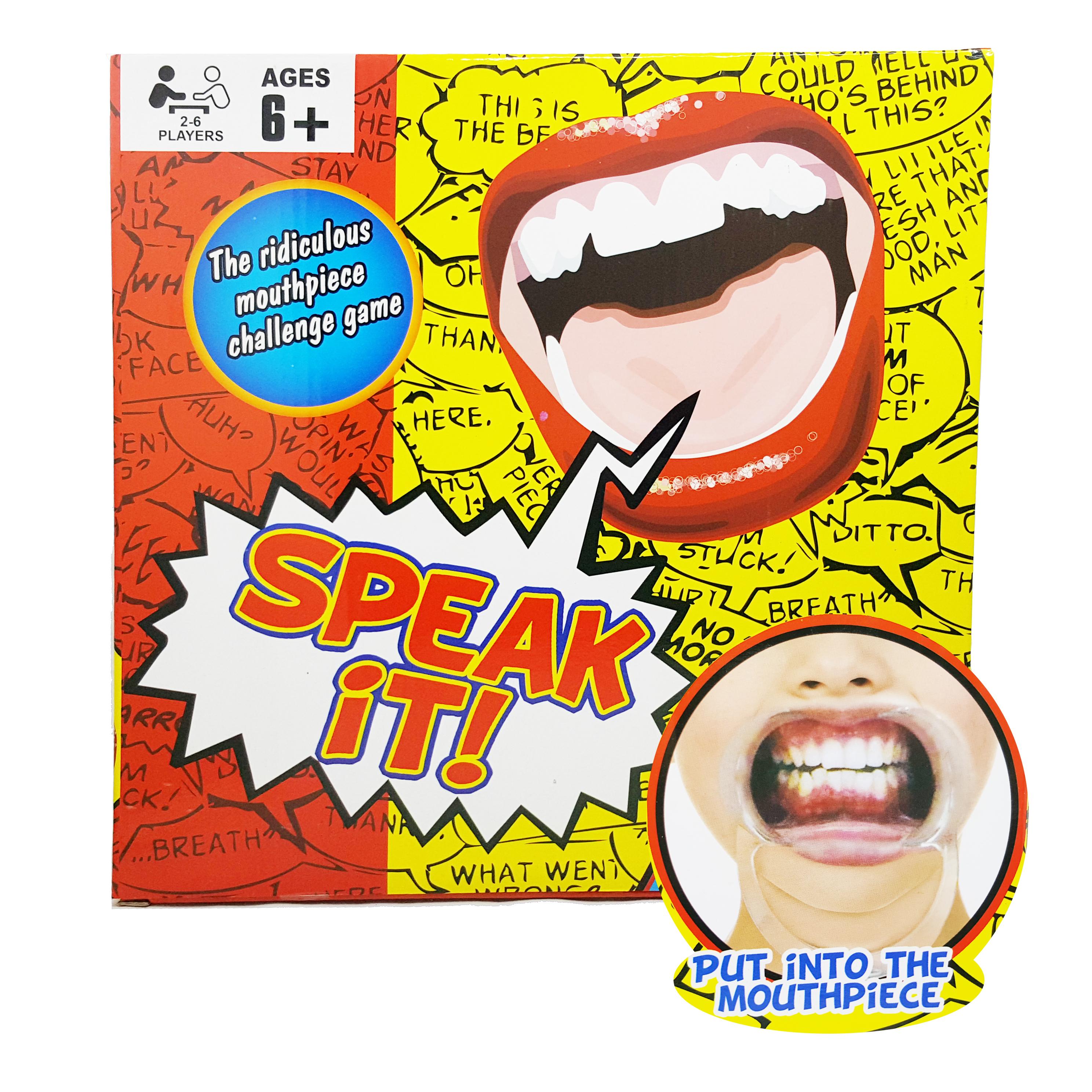 BO050 SPEAK OUT GAME เวอร์ชั่น SPAKE IT แฟมิลี่เกมส์ เกมส์แหกปาก แล้วพูดคำศัพท์ สนุกปน ฮ่า กับเพื่อนๆ หรือ ครอบครัว