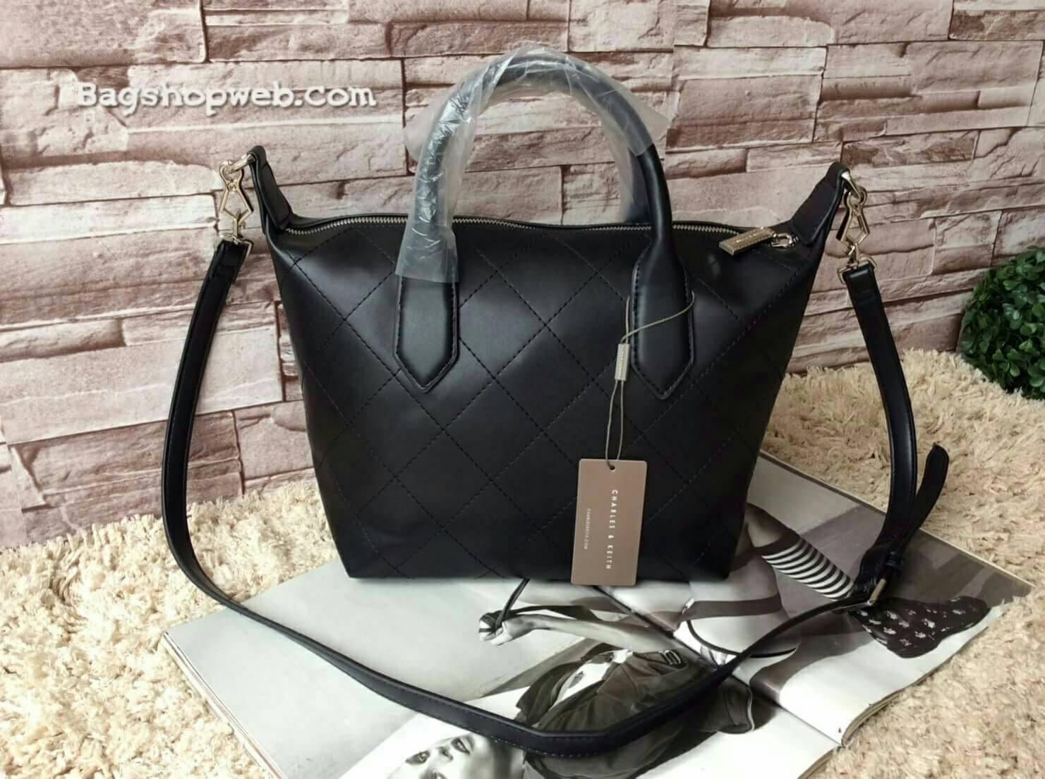 """กระเป๋า CHARLES&KEITH CASUAL SHOPPER กระเป๋าสะพายรุ่นยอดนิยมดีไซน์สวยน่าใช้สไตล์ """"Longchamp"""""""
