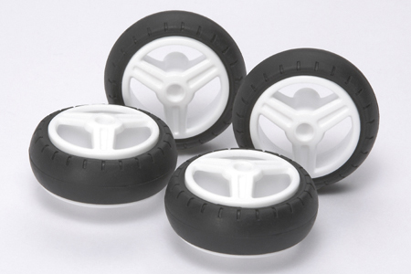 Slick Tire Set – 31mm Diameter for TAMIYA