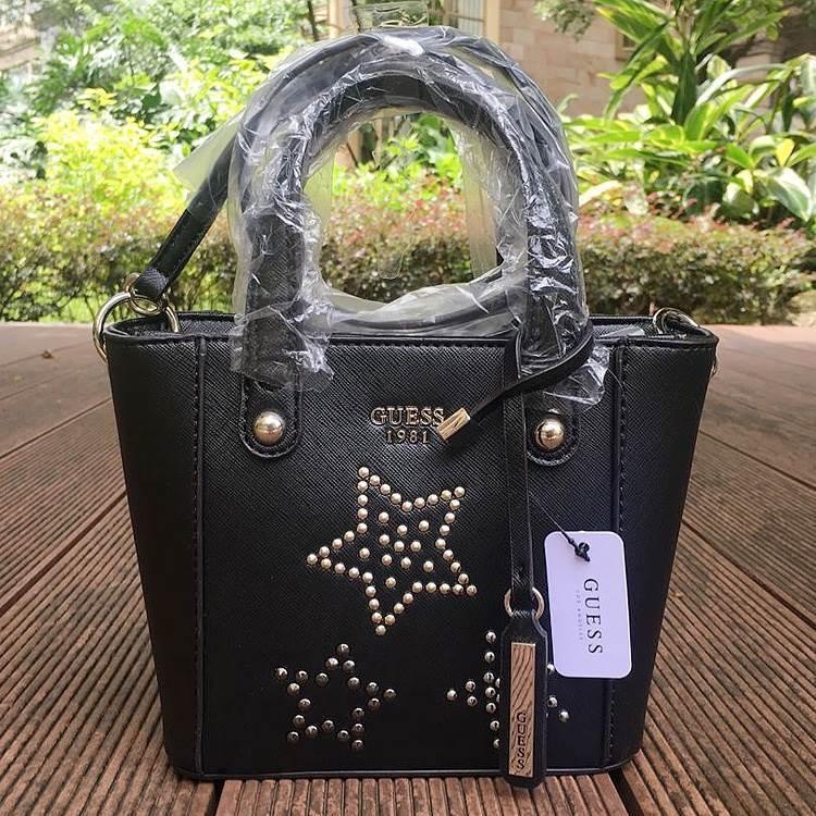 GUESS Delaney Saffiano Mini Star Design