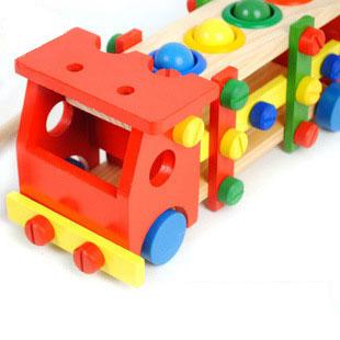 เกมช่างประกอบรถ ของเล่นไม้ขันน๊อต ค้อนทุบบอล