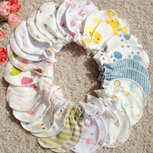 ถุงมือเด็กอ่อนผ้าฝ้าย ไร้ตะเข็บด้านใน ป้องกันมือเด็ก สำหรับ 0-6 เดือน
