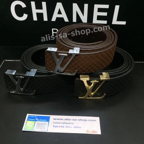 เข็มขัดหลุยส์ Louis Vuitton Belts 2014:เกรดพรีเมี่ยม สี ดำ,น้ำตาล