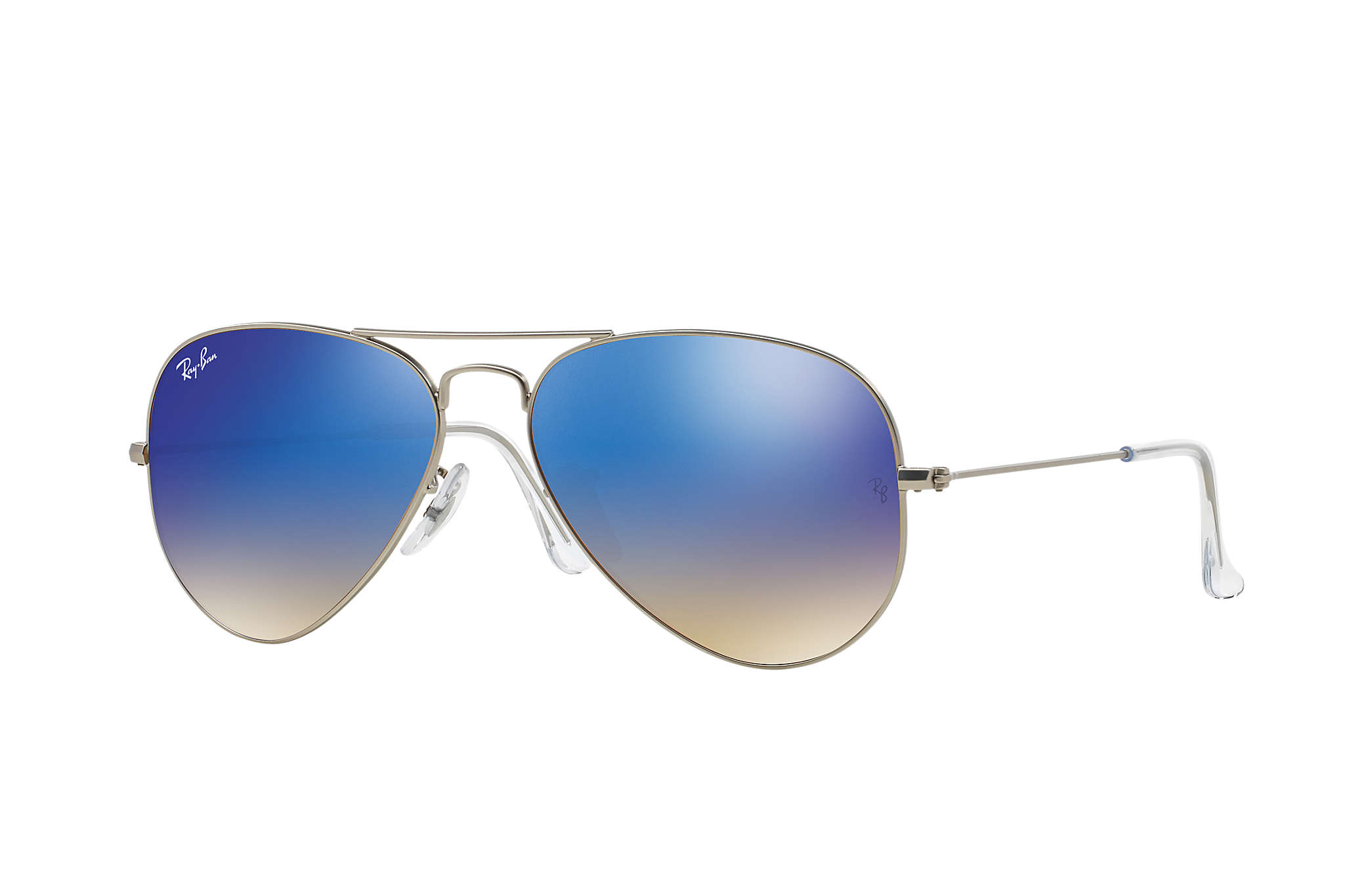 Ray-Ban RB3025 019/8B Aviator Matte Silver / Blue Gradient Mirrored