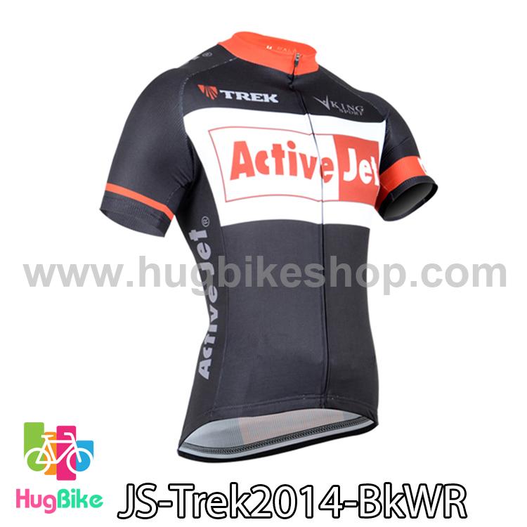 เสื้อจักรยานแขนสั้นทีม Trek 14 สีดำขาวแดง สั่งจอง (Pre-order)