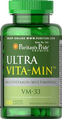 วิตามินรวม Puritan's Pride ULTRA Vita-min ขนาด 100 Caplets
