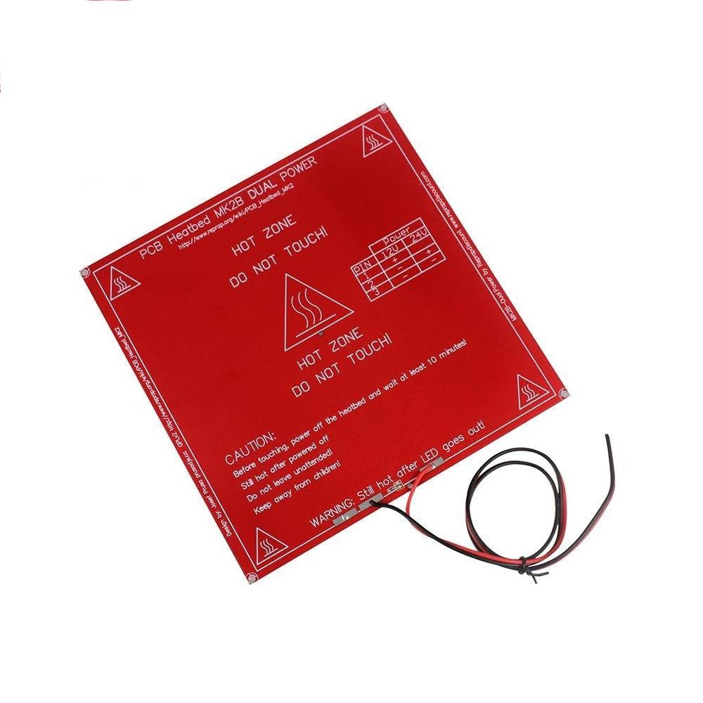 Heat Bed PCB 214 x 214 mm MK2B Dual Power + สายไฟขนาด 1.5 mm